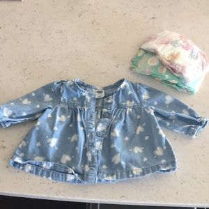 Old navy baby girl button down blouse !